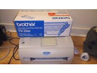 BARGAIN! Brother Laser B&W printer with additional cartridge and paper - URGENT