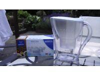 Slimline BRITA Water Filter Cooler Jug & Cartridges Fits in Fridge Door