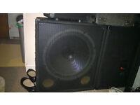 """30"""" 500w base bins with 500w prosound speakers"""