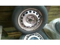 steel wheels x 3 for sale!!!!!!!vw seat audi