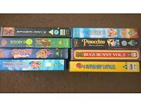8 VHS Tapes PG/U Films
