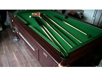 heratage imperial 7x4 super league pool table coin vend