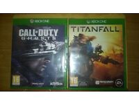 XBOX ONE Games Bundle X 2 Call of Duty GHOST and Titanfall