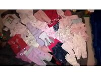 newborn to 1 mth clothes bundle