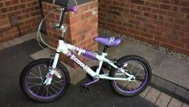 Girls BMX style bike - purple, girls 4 - 7 years