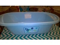 mothercare blue baby bath
