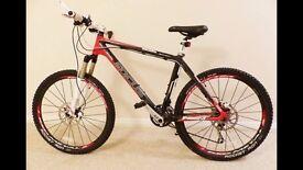 focus carbon mountain bicycle medium size frame