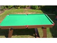 Snooker or Pool Table (6'x3')