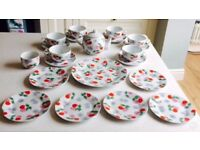 Stunning Cath Kidston Cherry Tea Set. Gift set purchased from Bath store and never used.