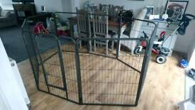 Large dog pen with door