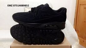 nike air max 90 hyperfuse suede vt Triple Black all sizes inc delivery paypal