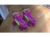 Roller Boots SFR Rio Quad Skates, Size UK 2 in Purple/Green £25