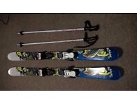 K2 Juvy Kids Twin Tip Skis 129cm with Poles