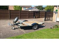 motorbike trailer with spare wheen and concealed ramp