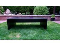 Dark wood effect coffee table