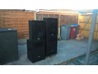 SOLD SOLD Mcgregor PS15/600 + PW15/600C Bass bins and tops pa speakers SOLD SOLD SOLD SOLD SOLD
