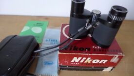 LIKE NEW! Lovely pair of vintage Nikon binoculars, 7x21, 7.1. Original box. No signs of any real use