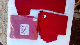 NEW: Ladies T-shirts Large (red) X 18.. £2 each or all for £25