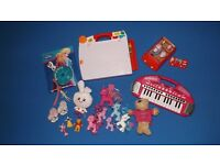 Variety of Fisher-Price, VTech, ELC, Peppa Pig and other toddler and baby toys.