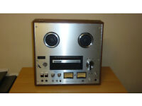 EXCELLENT SONY TC-378 REEL TO REEL TAPE DECK WITH PERSPEX COVER