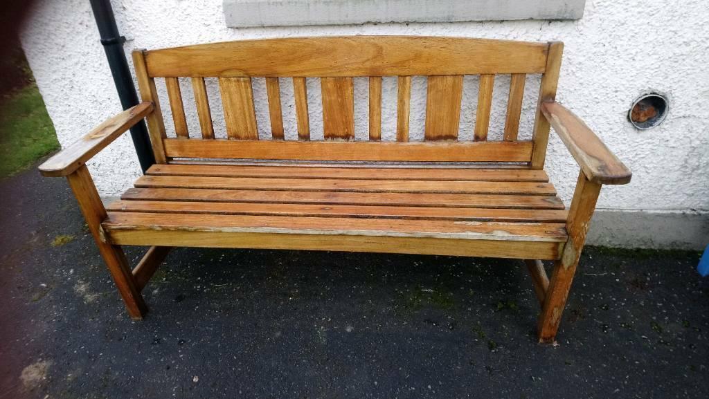 Hardwood Teak Garden Bench In Southside Glasgow Gumtree