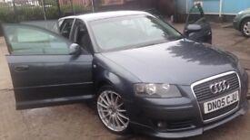 dark grey Audi A3 tdi sport