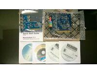 boxed m-audio revolution high definition 7.1 surround sound card 24bit 192khz + six port pci usb