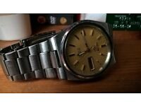 seiko 5 automatic 17 jewel lovely watch not citizen omega