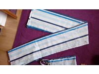Brand new: Blue and white striped shower curtain Marks and Spencers