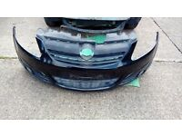 VAUXHALL CORSA D FRONT BUMPER IN BLACK