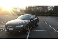 Audi A5 2012/12 2.0TDI S-Line Automatic Black 5 Door Fully Loaded Service History Cat D