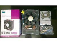 open box unused coolermaster hyper 212 plus 775 1150 1156 1366 939 am2 am2+ am3 cpu cooler 180w