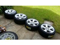 Bmw 19 Alloys Wheels/New Tyres Staggered Concave