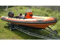 RIB BOAT COBRA 6m SUZUKI DF70 OUTBOARD AND TRAILER