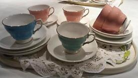 Vintage cups,saucers&plates