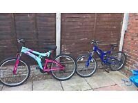 2 Mountain Bikes (FOR SALE)