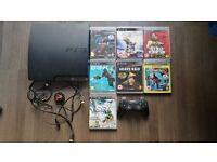 Playstation 3 320GB, incl. 7 boxed games+1 controller+HDMI all cables, Perfect condition