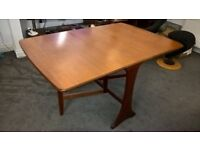 Real wood, solid folding leaf dining table
