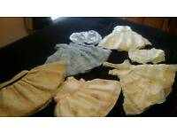 BABY GIRLS SATIN DRESSES BUNDLE AGED APPROX 12 MONTHS