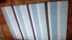Pretty stripey blue rug