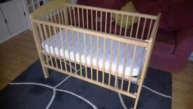 John Lewis cot + Boots mattress