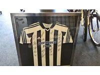 Newcastle united signed football shirt