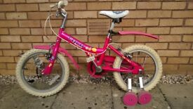 Girls 'Coco' Pink Cycle with Stabilsers (3 to 7 yrs)
