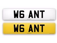 Number plate WANT for sale.