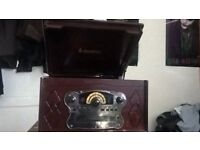 Steepletone turntable