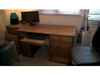 Pine Home Office Computer Desk - From The Creamery - in great condition