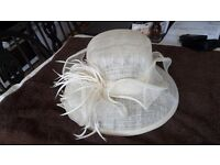 cream sinaway wedding hat