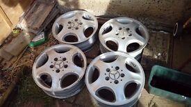 Merc a class 15 inch alloy wheels