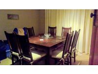 Lombok Indonesian Teak wood Dining table and 6 chairs