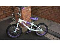 kids BMX style bike - purple, girls